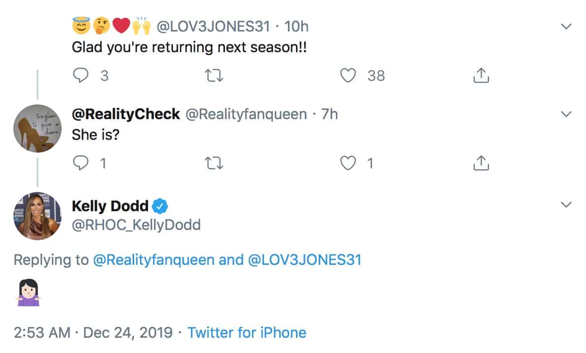 Kelly Dodd Reacts to Message About RHOC Return