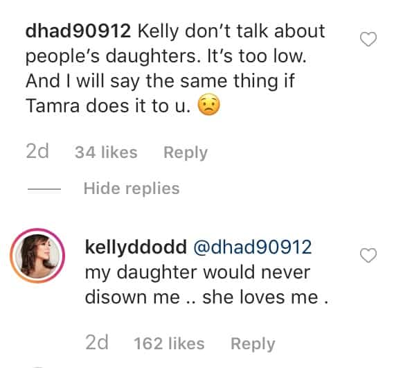 RHOC Kelly Dodd Suggests Tamra Judge's Daughter Doesn't Love Her