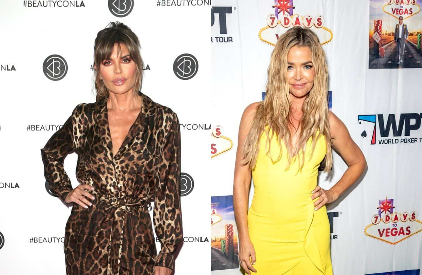 "Lisa Rinna Suggests Denise Richards Shouldn't Be on RHOBH if She's Not Willing to Share Entire Life, Claps Back After Being Slammed as a ""Hypocrite"" and Reacts to Claims of Secret ""Skeletons"""