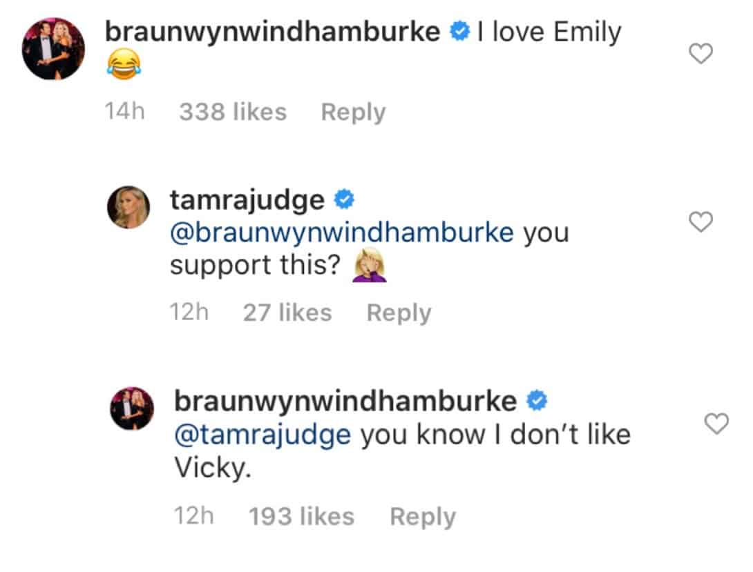 RHOC Tamra Judge Calls Out Braunwyn for Supporting Emily Simpson