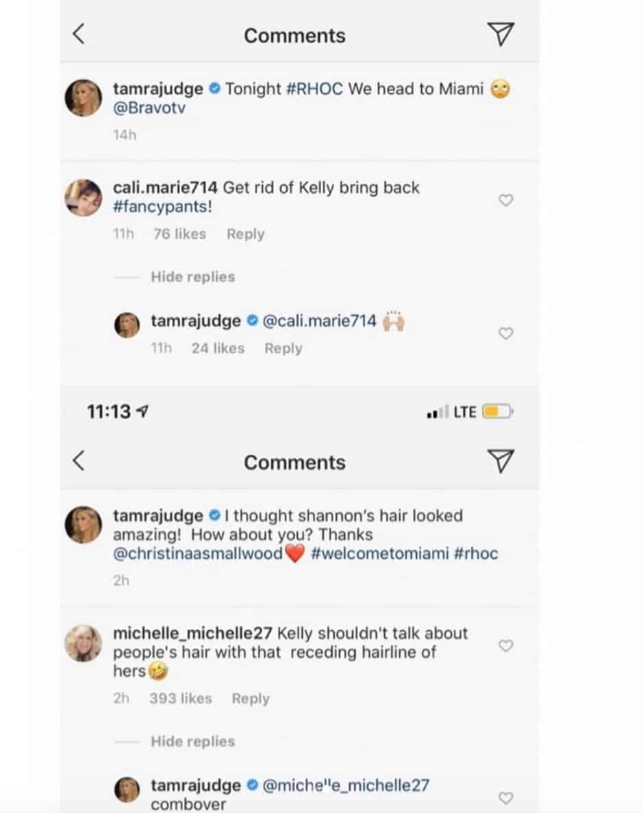 RHOC Tamra Judge Calls for Kelly Dodd to Be Fired and Makes Fun of Hair