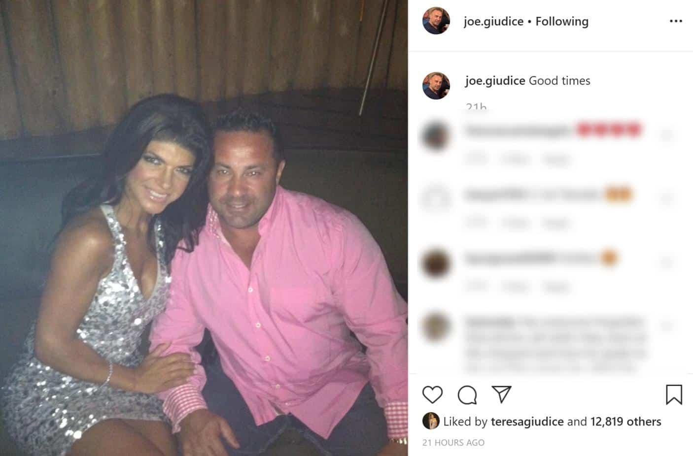 Teresa Giudice likes Joe Giudice's Instagram Post