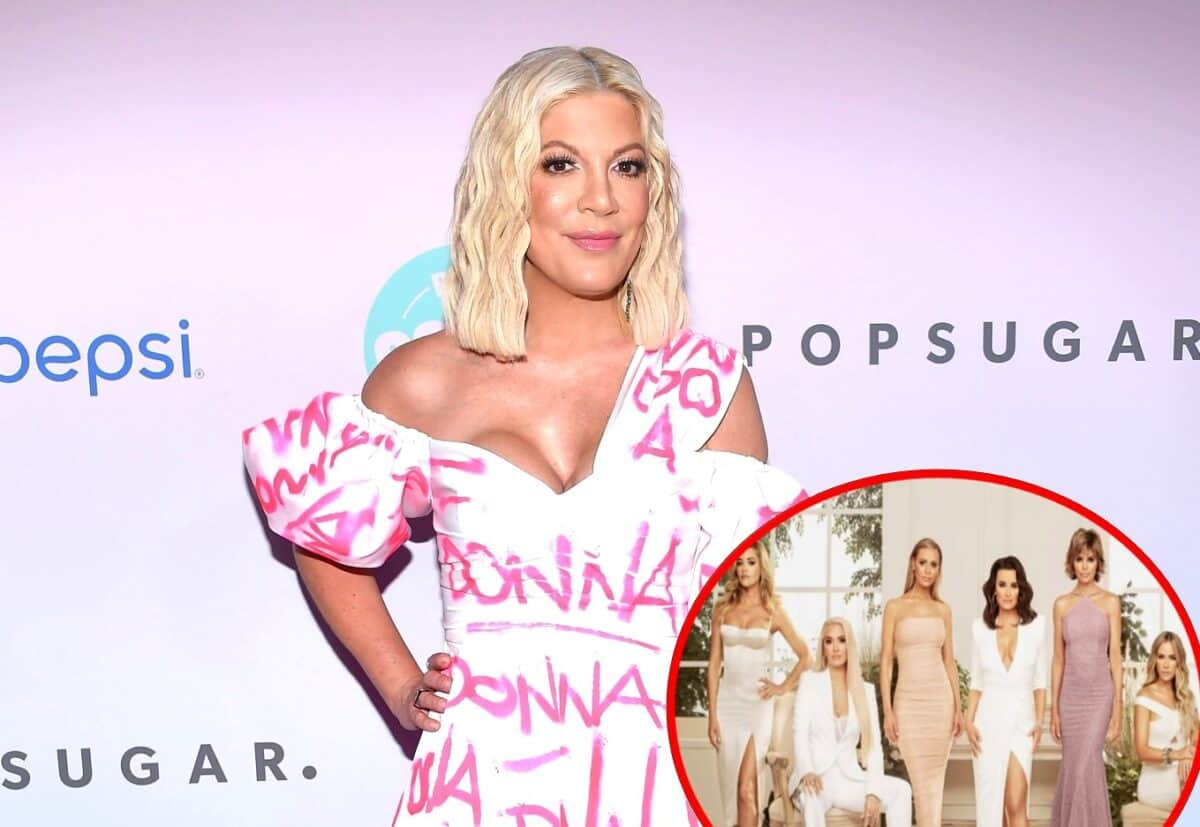 Tori Spelling Addresses Claims She Wants to Join RHOBH Cast, Says She'd Be 'Eaten Alive' By the Women