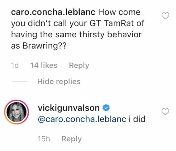 RHOC Vicki Gunvalson Claims She Did Call Out Tamra Judge for Racy Behavior