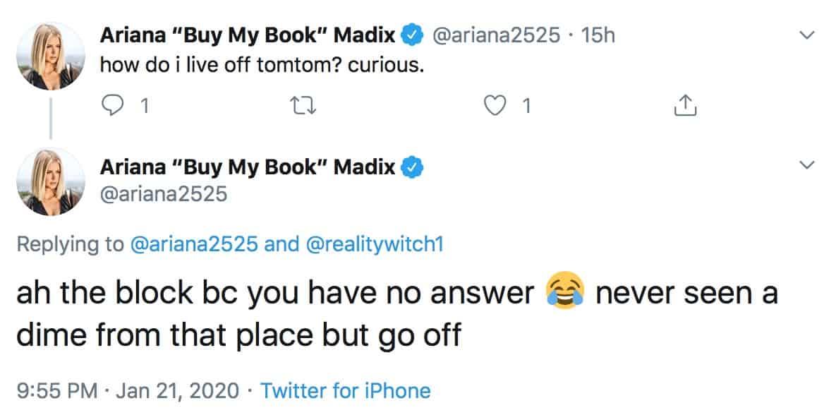 Vanderpump Rules Ariana Madix Denies Living Off TomTom