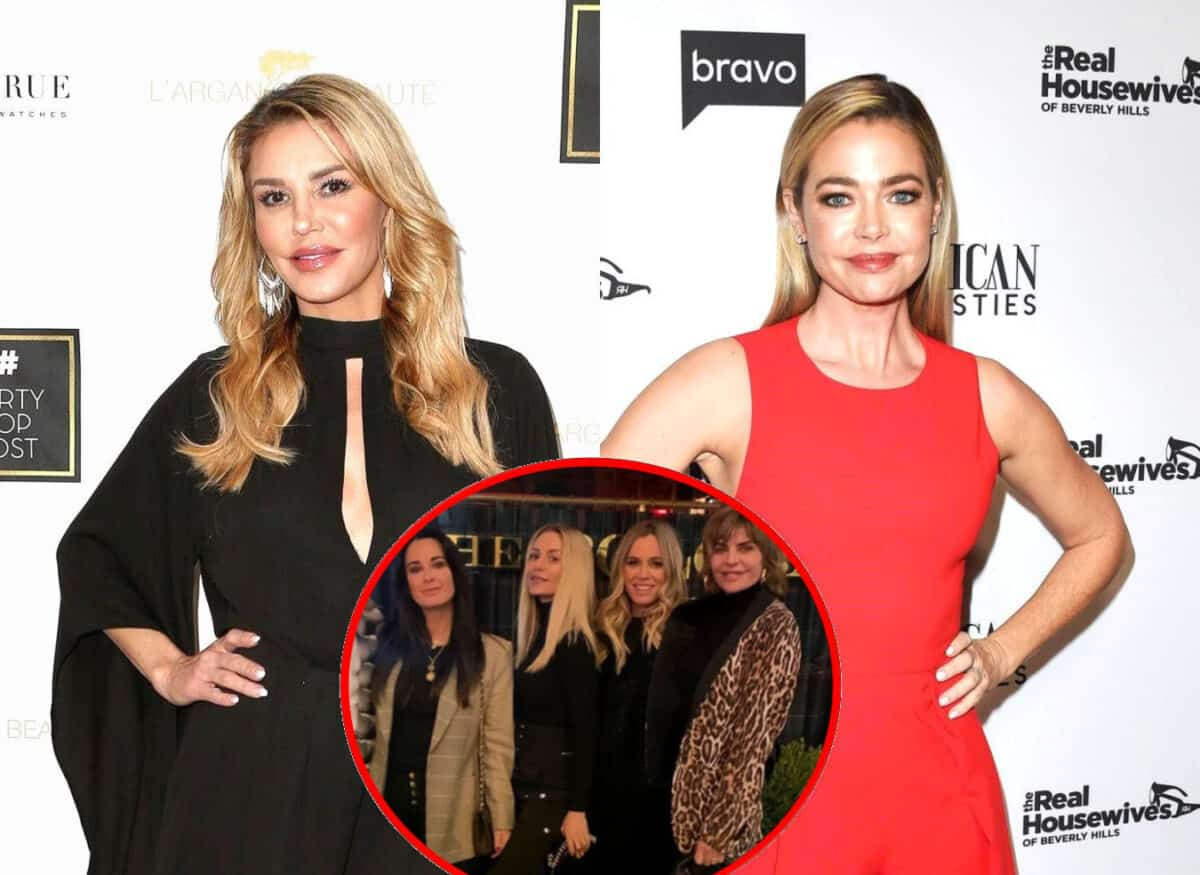Brandi Glanville Shares Cryptic Tweet About 'Hooking Up' Amid Affair Rumors With Denise Richards, Plus RHOBH Cast Visits NYC Without Denise