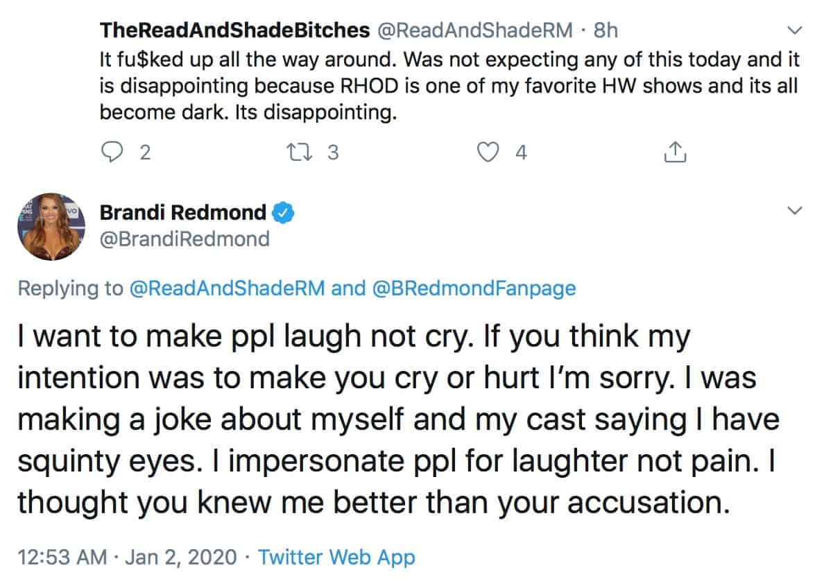 RHOD Brandi Redmond Apologizes for Offensive Asian Video