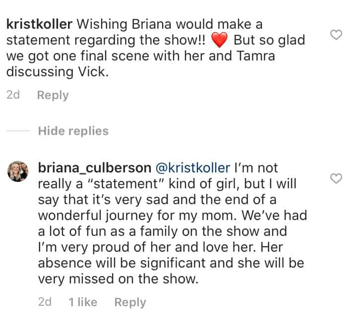 RHOC Briana Culberson Reacts to Vicki Gunvalson Quitting RHOC