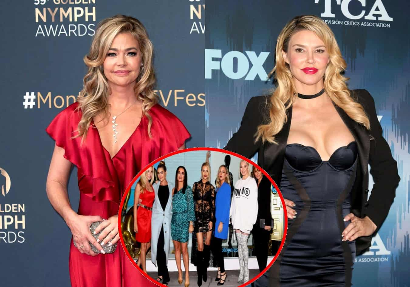 Denise Richards Accused of Having Affair With Brandi Glanville for Months by RHOBH Costars, Denise Denies it Plus Find Out Why Brandi is Upset as Camille Reacts
