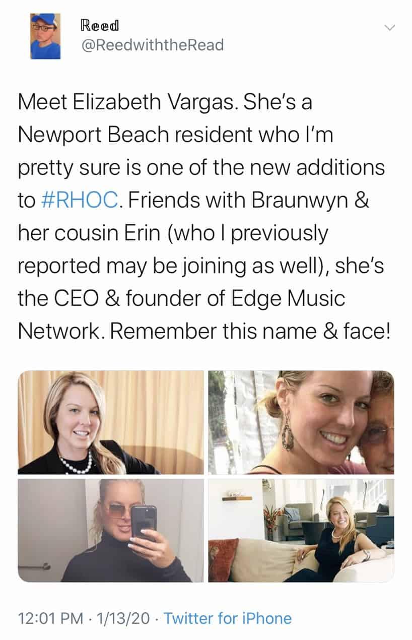 Elizabeth Vargas Could Be a New RHOC Cast Member