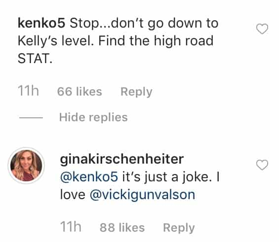 RHOC Gina Kirschenheiter Insists Vicki Gunvalson Train Photo Was a Joke