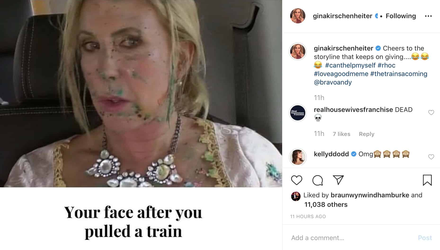 RHOC Gina Kirschenheiter Shares Photo of Vicki Gunvalson and Mentions a Train