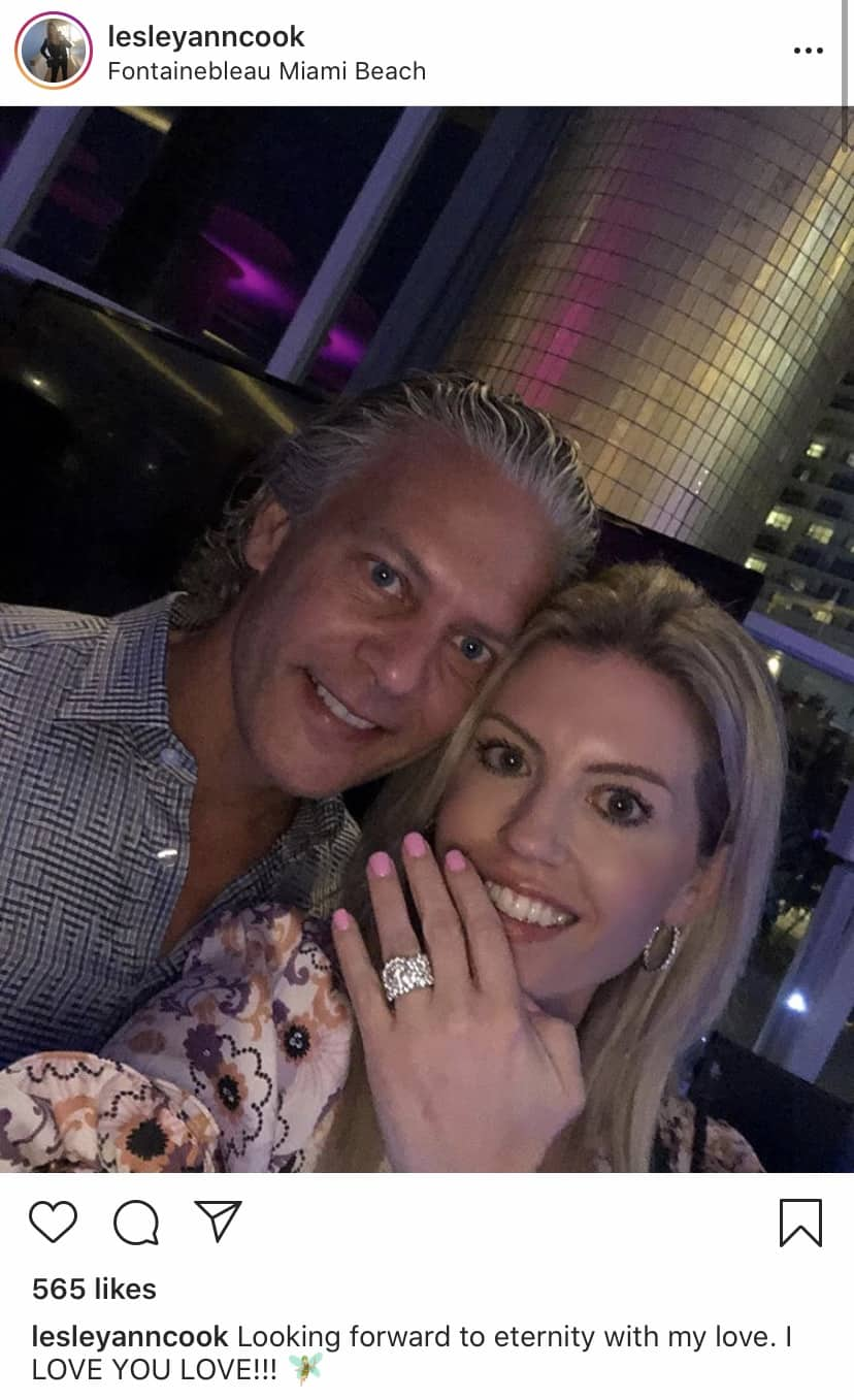 Lesley Cook Announces Engagement to RHOC David Beador