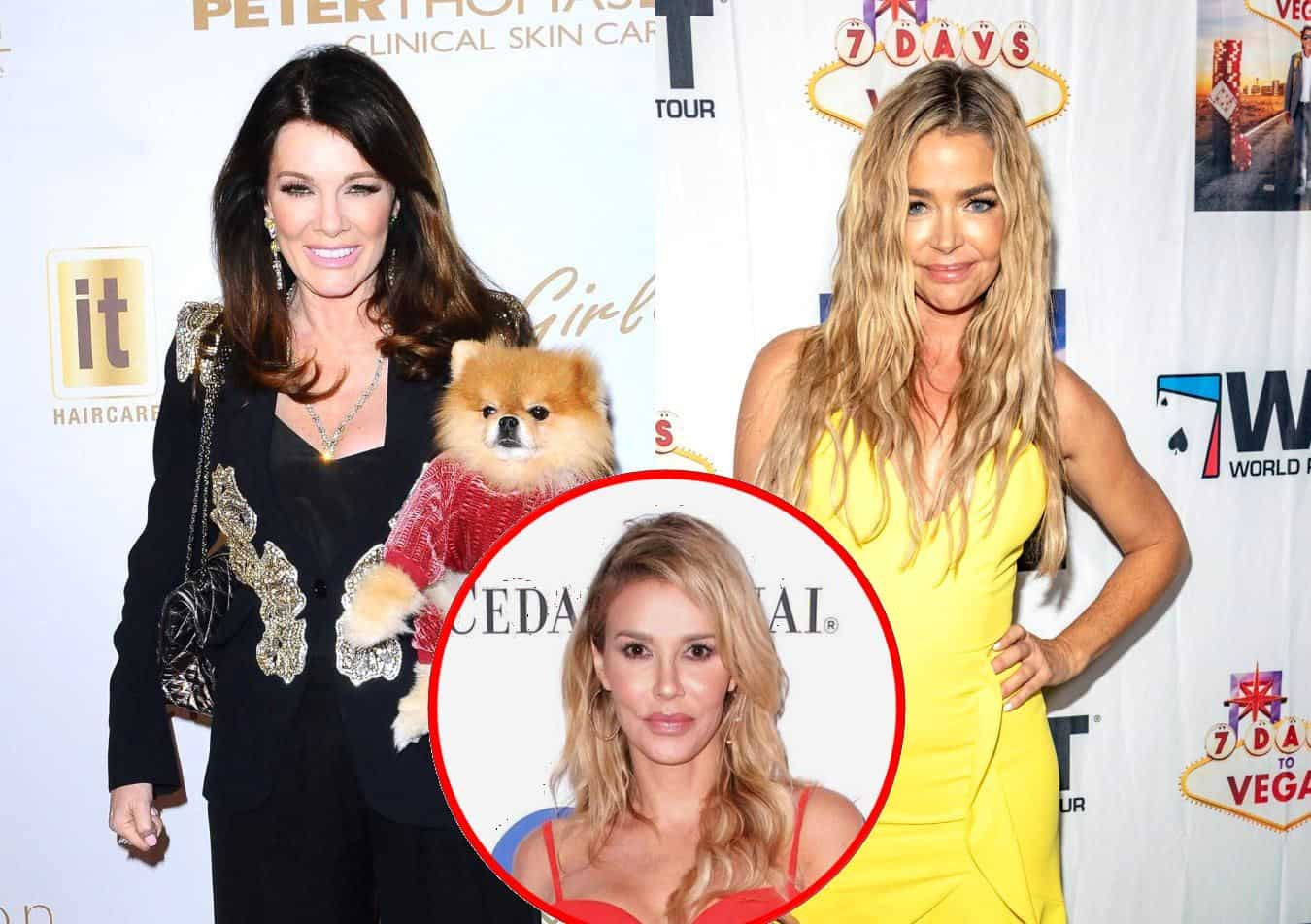 "Lisa Vanderpump Has a ""Funny"" Response to Denise Richards Skipping Out on RHOBH Filming, Plus She Throws Shade at Brandi Glanville"