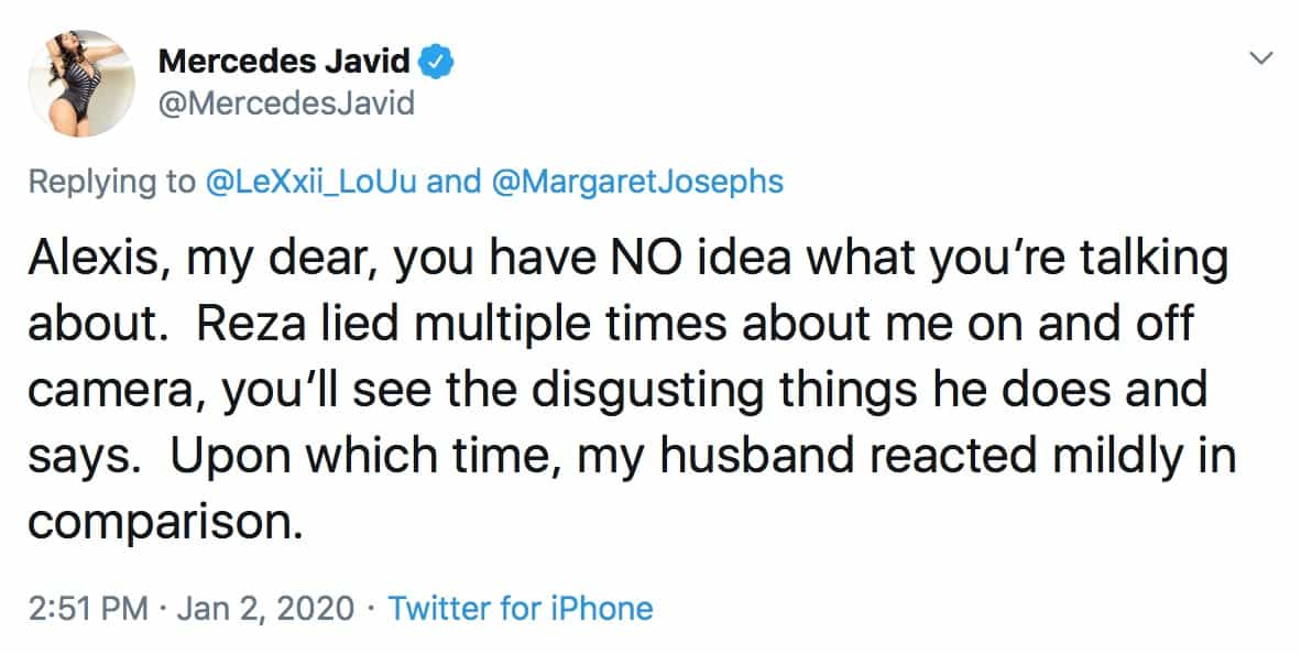 Mercedes Javid Slams Reza Farahan for Lying on Shahs of Sunset