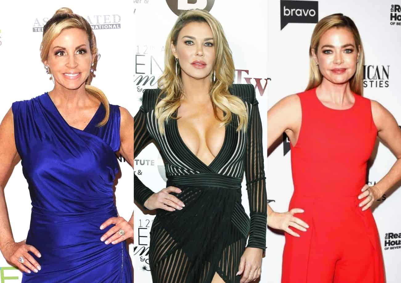 "RHOBH's Camille Grammer Slams Brandi Glanville for Making Up ""Fake"" and ""Destructive Story"" About Denise Richards to Land Full-Time Role, Wonders ""Who Put Her Up to This"""