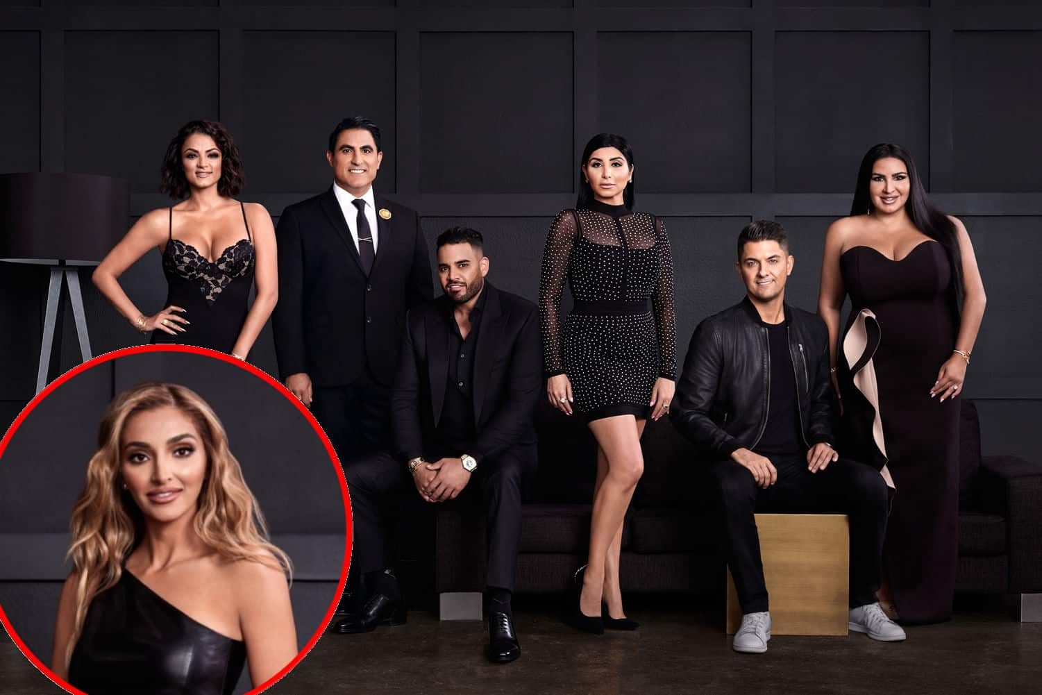 "VIDEO: Watch the Shahs of Sunset Season 8 Trailer! 'MJ' Javid and Reza Farahan's Friendship Implodes and Mike Shouhed Finds His Soulmate as R. Kelly's Ex Sara Jeihooni Joins Cast Shahs of Sunset 2020 Cast - Destiney Rose, Golnesa ""GG"" Gharachedaghi, Mercedes ""MJ"" Javid, Mike Shouhed, Reza Farahan, and Nema Vand"