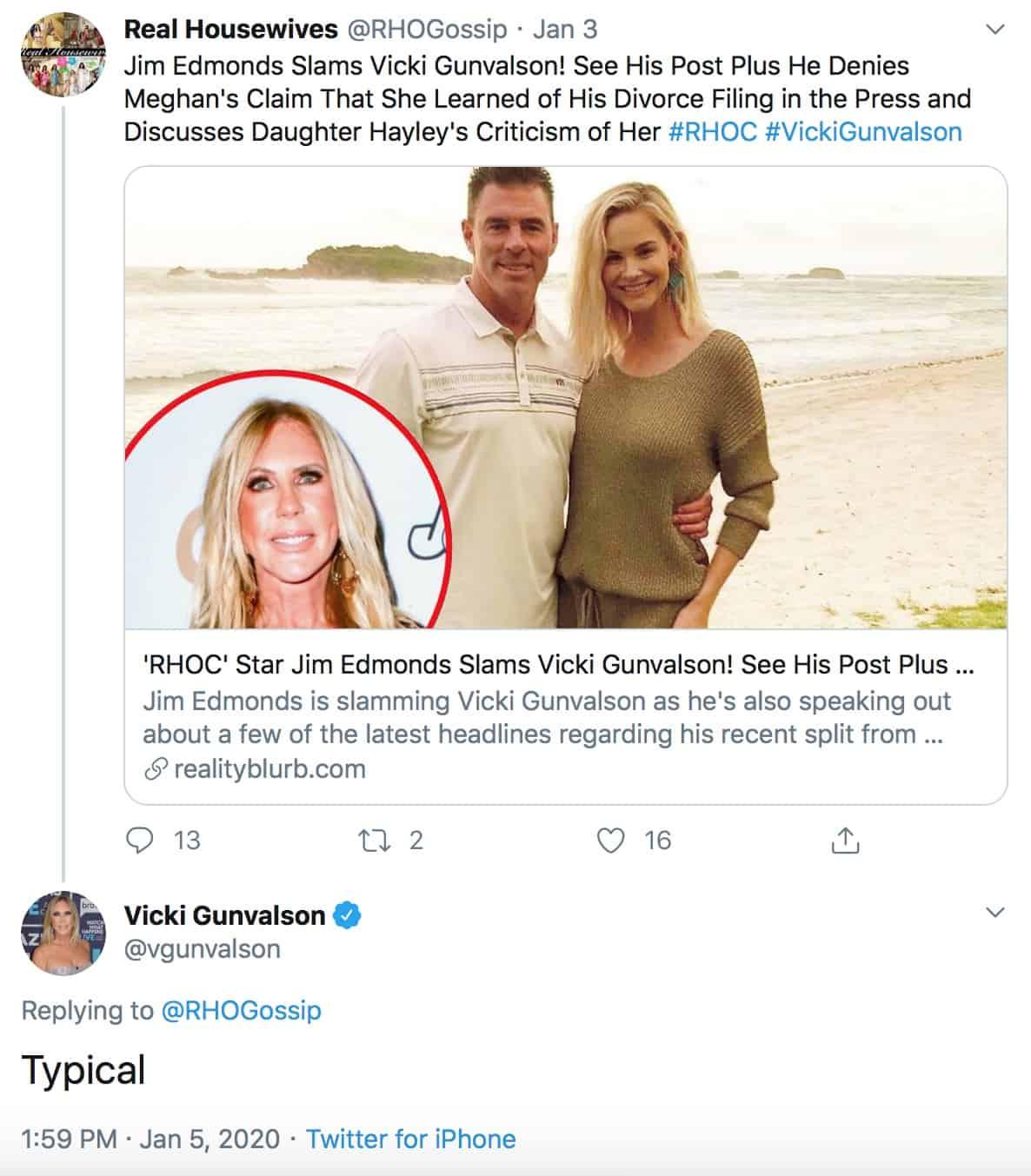 RHOC Vicki Gunvalson Responds to Jim Edmonds Saying She Sucks