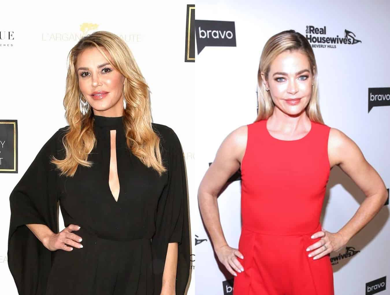 "PHOTO: Brandi Glanville Posts Photo of Herself Sharing a Kiss With Denise Richards as RHOBH Star Tells Fans: ""Snack on This"""