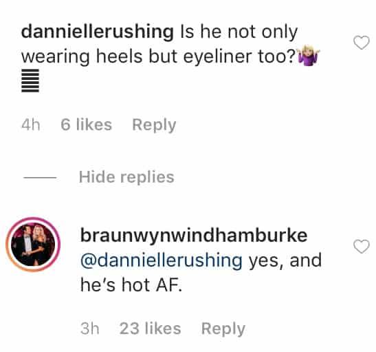 Braunwyn Windham Burke Says Husband Sean is Hot in Heels and Eyeliner