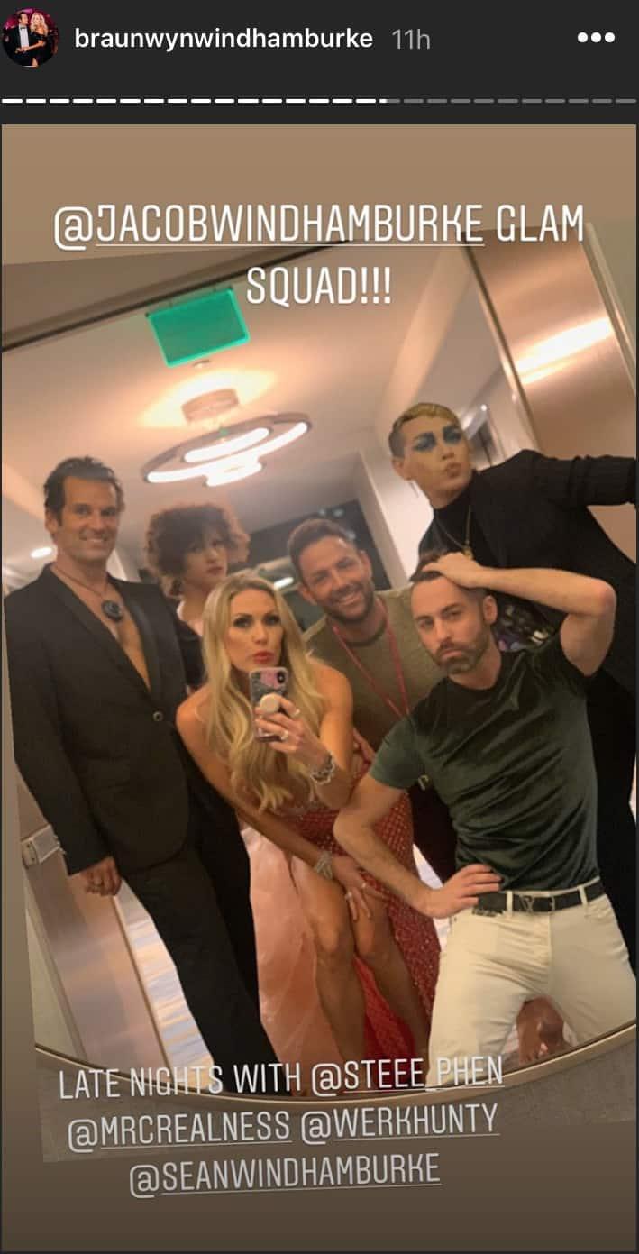 RHOC Braunwyn Windham Burke Shares Photo of Son's Glam Squad