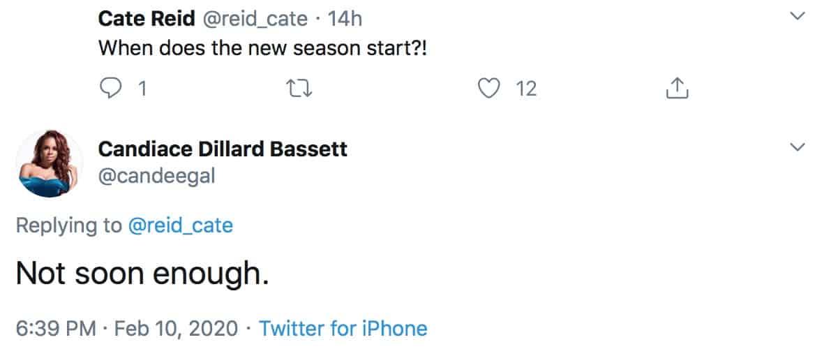 Candiace Dillard Responds to Question About RHOP Season Five