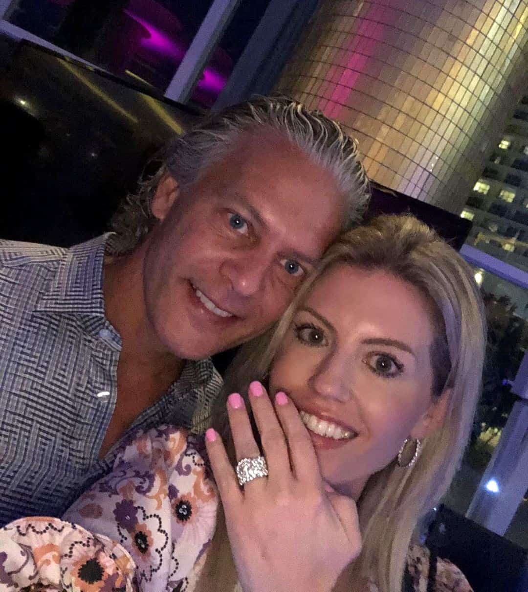 David Beador fiance Lesley Cook Engagement Ring