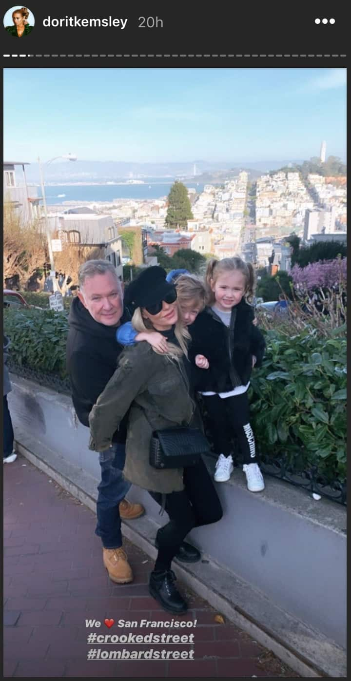 RHOBH Dorit Kemsley and Husband PK Go to San Francisco With Kids