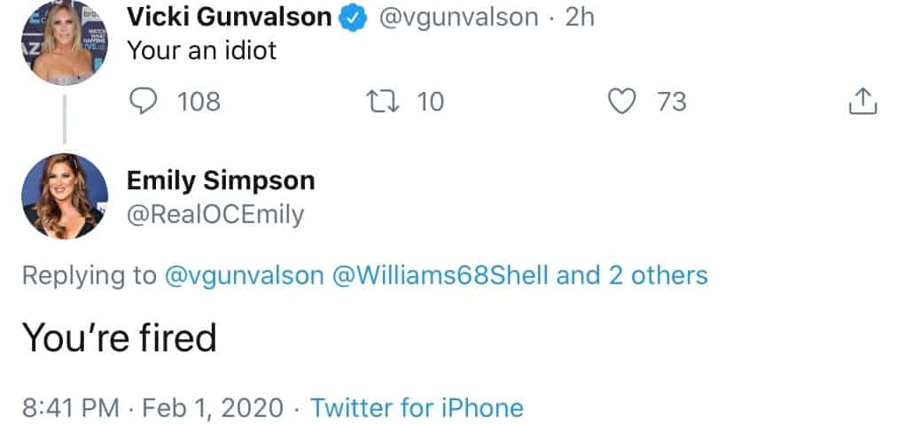 Emily Simpson pokes fun at Vicki Gunvalson RHOC Firing