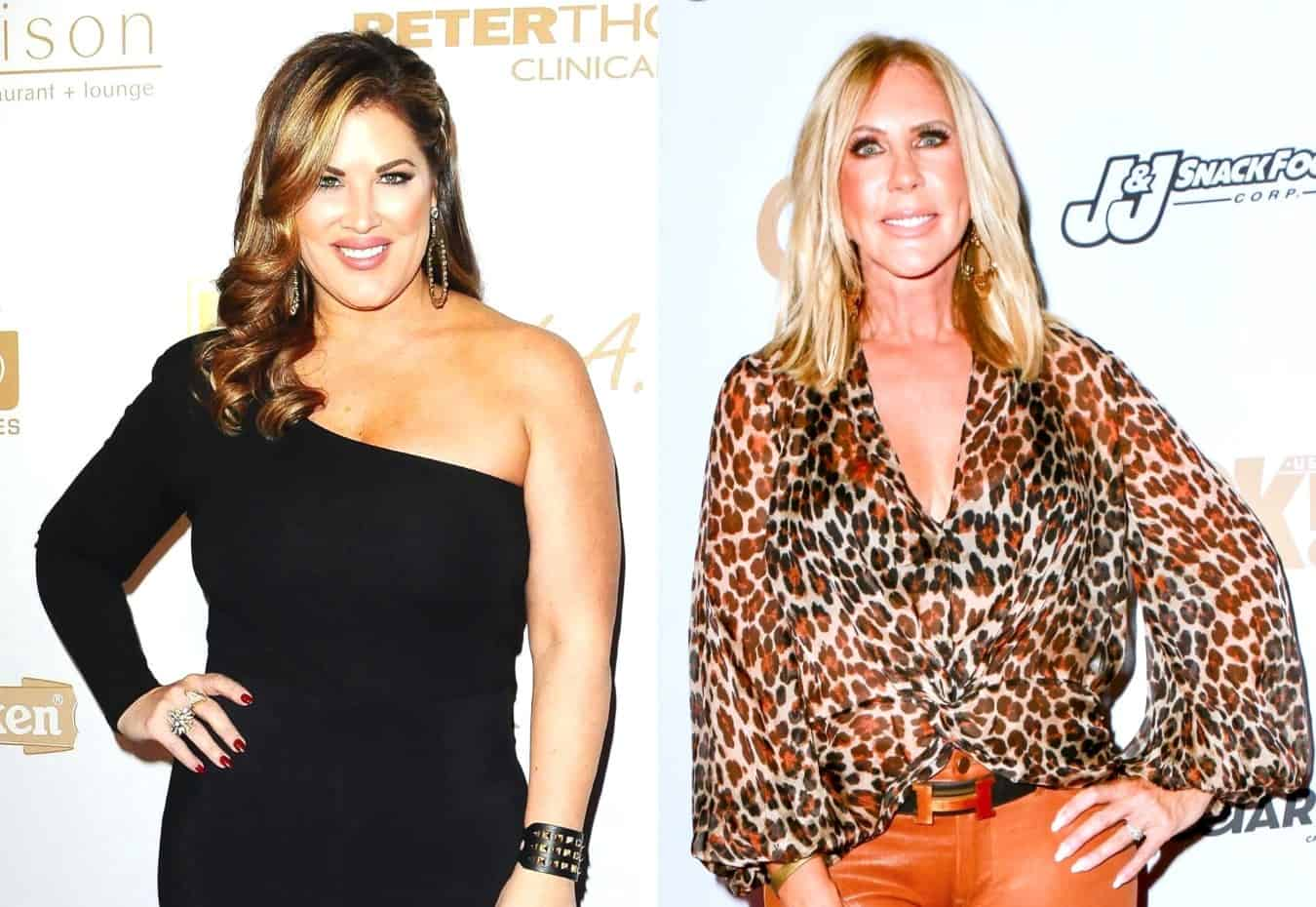"RHOC Stars Emily Simpson and Vicki Gunvalson Get Into Epic Twitter War! Emily Tells Vicki ""You're Fired!"" After Vicki Slams Her as an ""Idiot,"" See the Tweets and What Reignited Feud"
