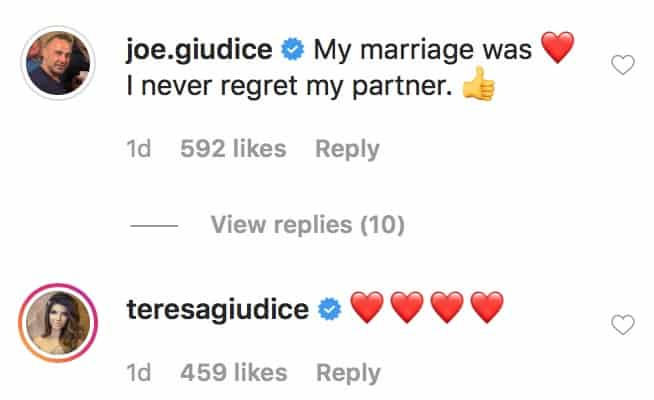 RHONJ Joe Giudice Says He Doesn't Regret Marrying Teresa