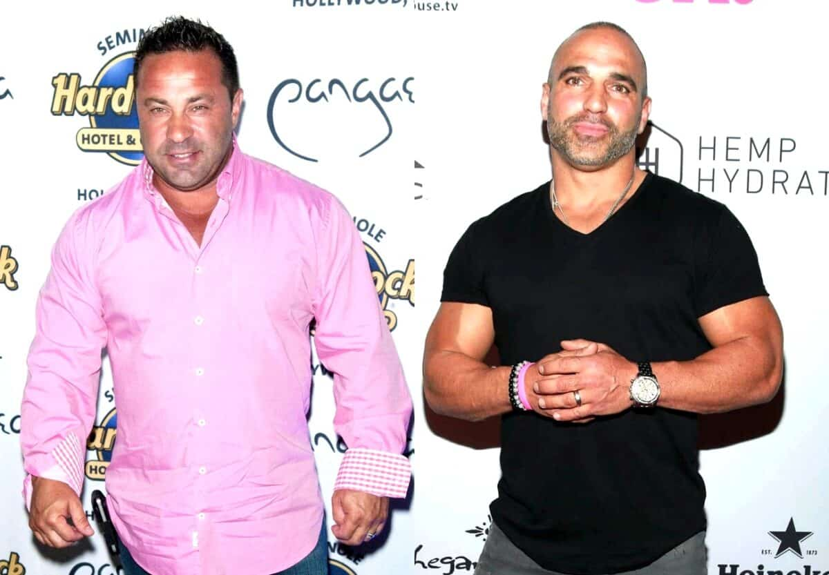 RHONJ's Joe Giudice Reacts After Joe Gorga Says He Doesn't Know How to Be a Man, Plus He Claims Beach Pics With Women Were Photoshopped