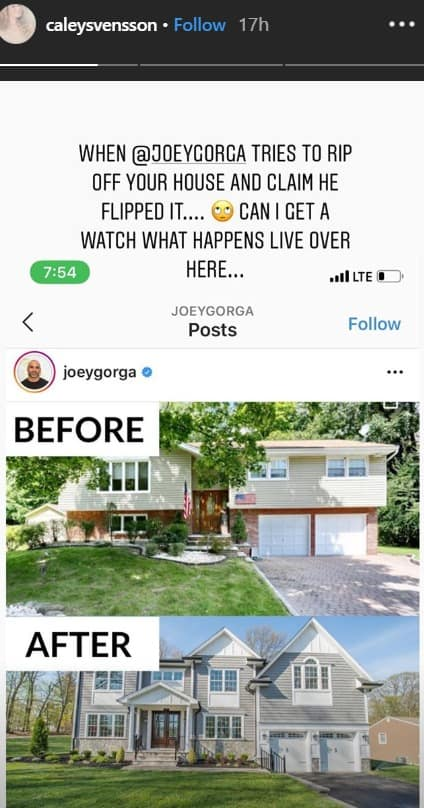 RHONJ Joe Gorga Called Out for Fake House Flip Post