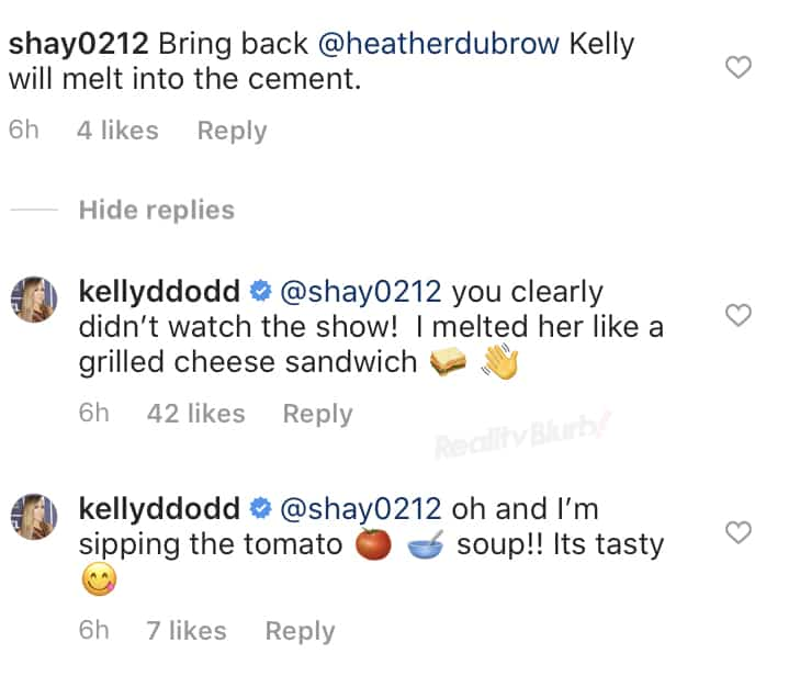RHOC Kelly Dodd Claims She Melted Heather Dubrow
