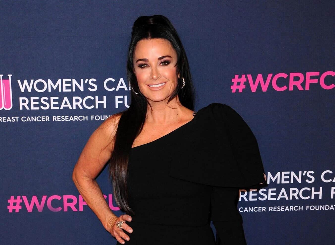 "PHOTO: RHOBH Fans Accuse Kyle Richards of Looking Unrecognizable in New Cast Pic, Kyle Explains ""Swollen"" Look as Dana Wilkey Has a Shady Reaction"