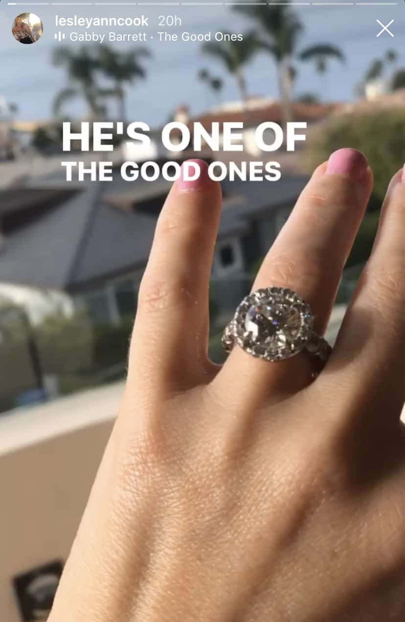 RHOC Lesley Cook Engagement Ring Close Up