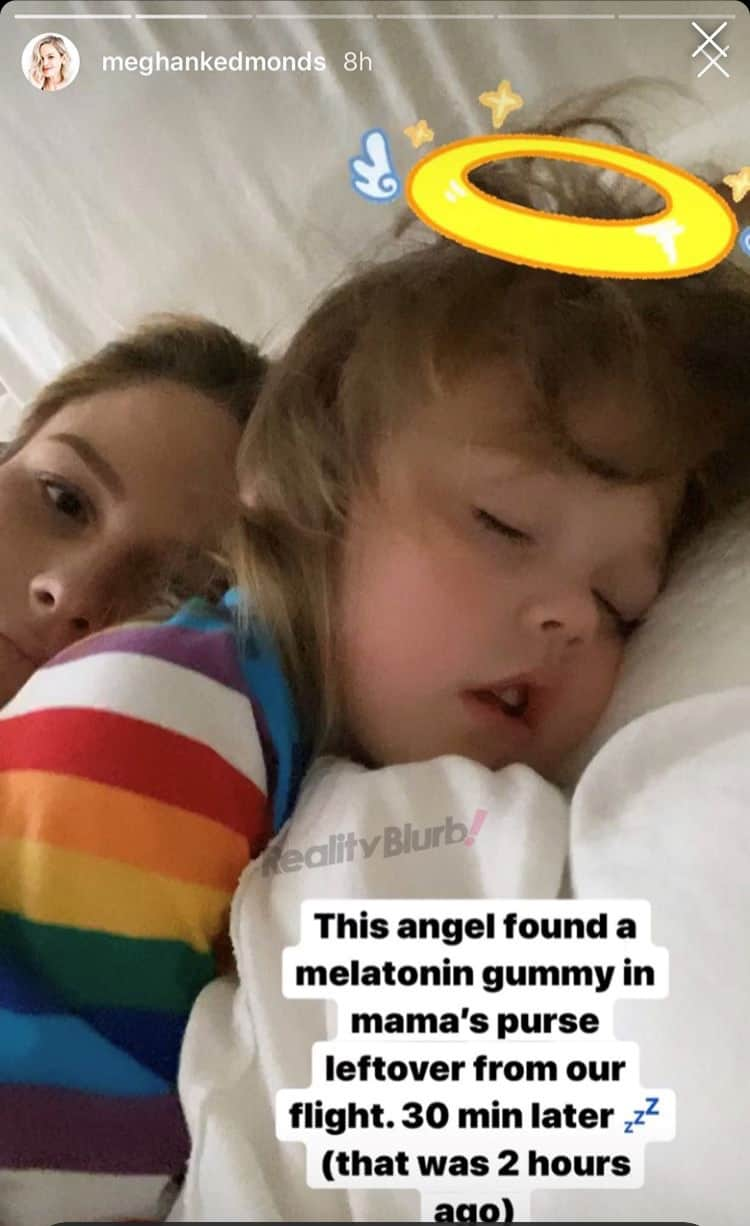 RHOC Meghan King Edmonds Shares Photo of Daughter After She Takes a Melatonin Gummy