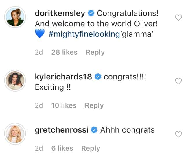 RHOBH Cast and Gretchen Rossi Congratulate Garcelle Beauvais on Grandson