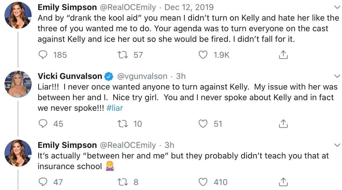 RHOC Vicki Gunvalson slams Emily Simpson as Liar in Twitter War