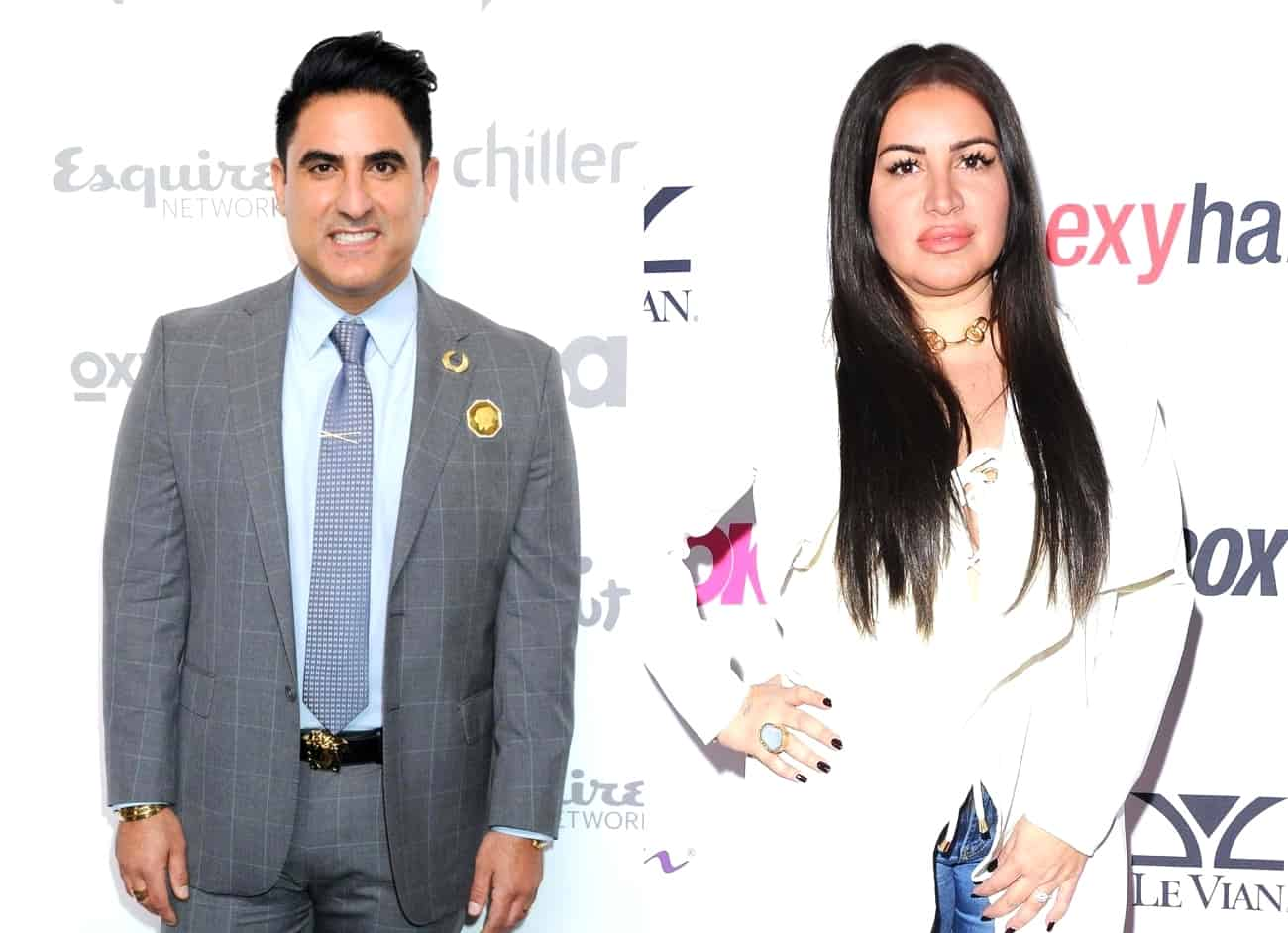 "Shahs of Sunset's Reza Farahan Discusses ""Awkward"" Run-In With MJ Javid at BravoCon and Slams Her for Failing to Thank Him for Baby Gift, Plus His Status With Adam"