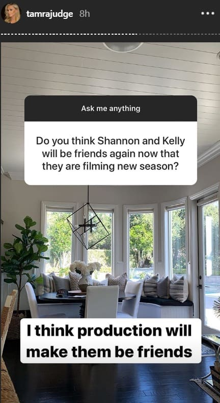 RHOC Tamra Judge Thinks Production Will Make Shannon and Kelly Become Friends