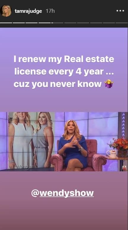 Tamra renews real estate license