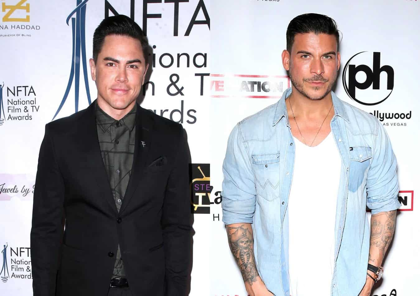 "Tom Sandoval Says Jax Taylor 'Smeared' Him Because of a ""Stupid A** Pool Party"" and Slams His Wedding Lies as Jax Claims He Can't Think of Anything He's Done Wrong to His Vanderpump Rules Co-star and Former Friend"