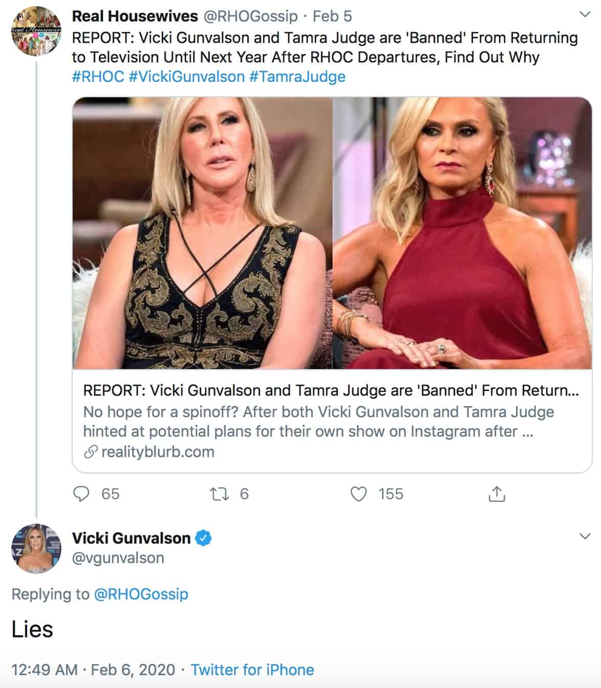 Vicki Gunvalson is Not Banned From TV After RHOC Exit