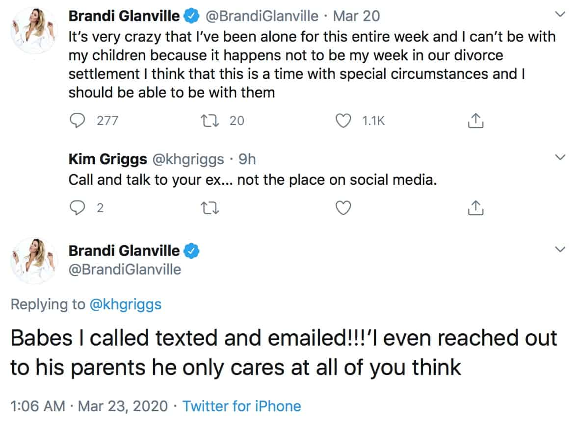 RHOBH Brandi Glanville Claims Eddie Cibrian Only Cares About Public Persona