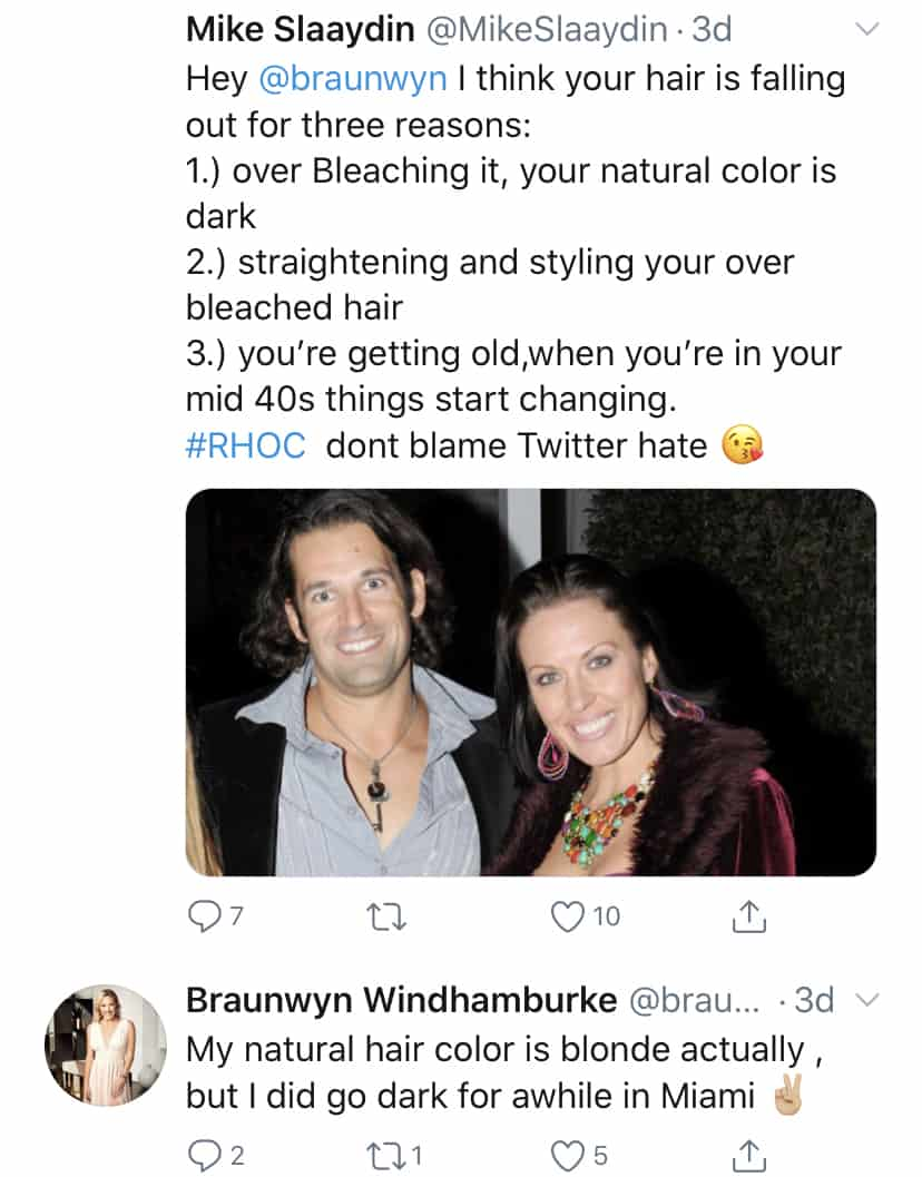 RHOC Braunwyn Windham Burke Claims Hair is Naturally Blonde