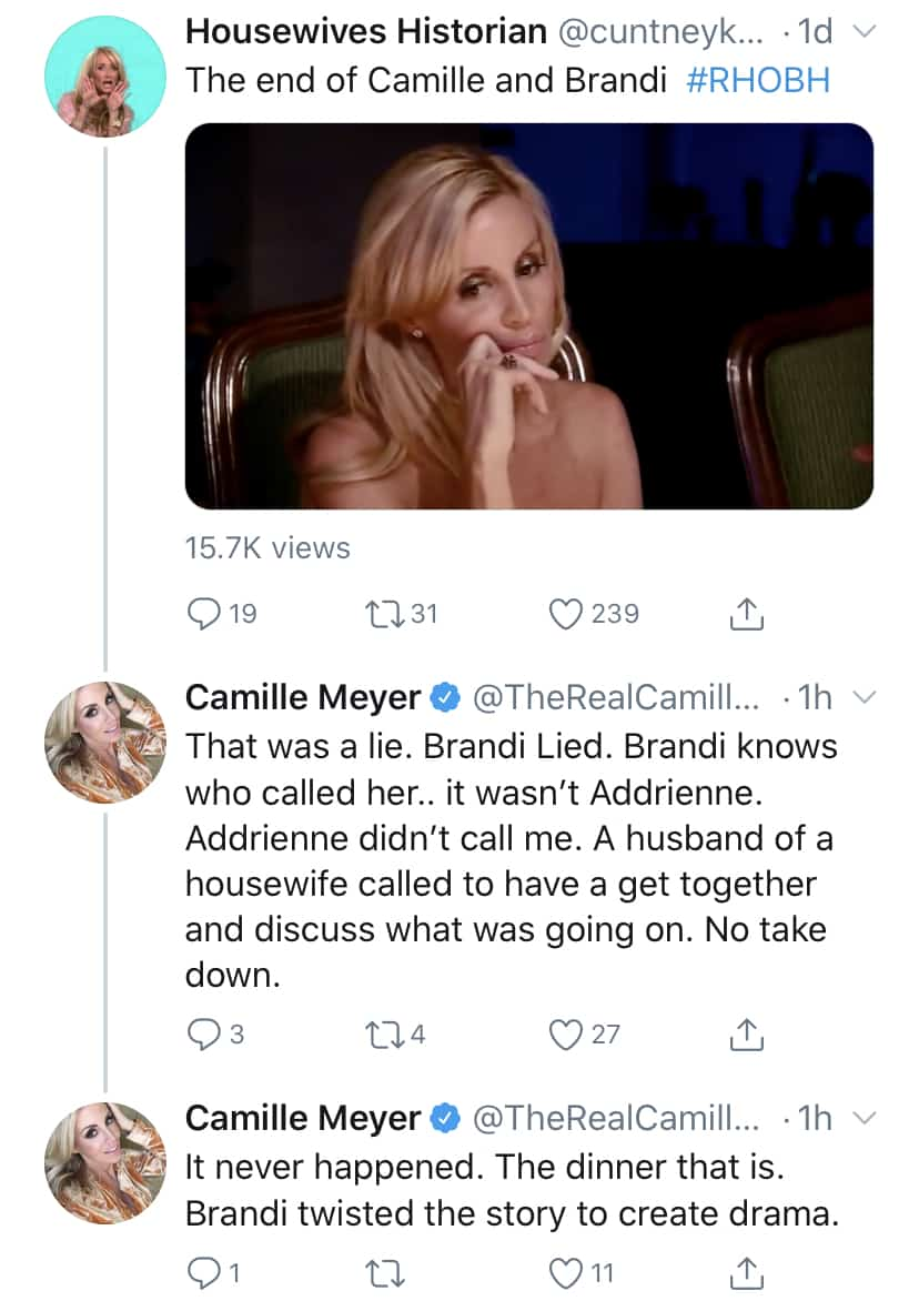 RHOBH Camille Grammer Slams Brandi Glanville For Lying About Lisa Vanderpump Take Down
