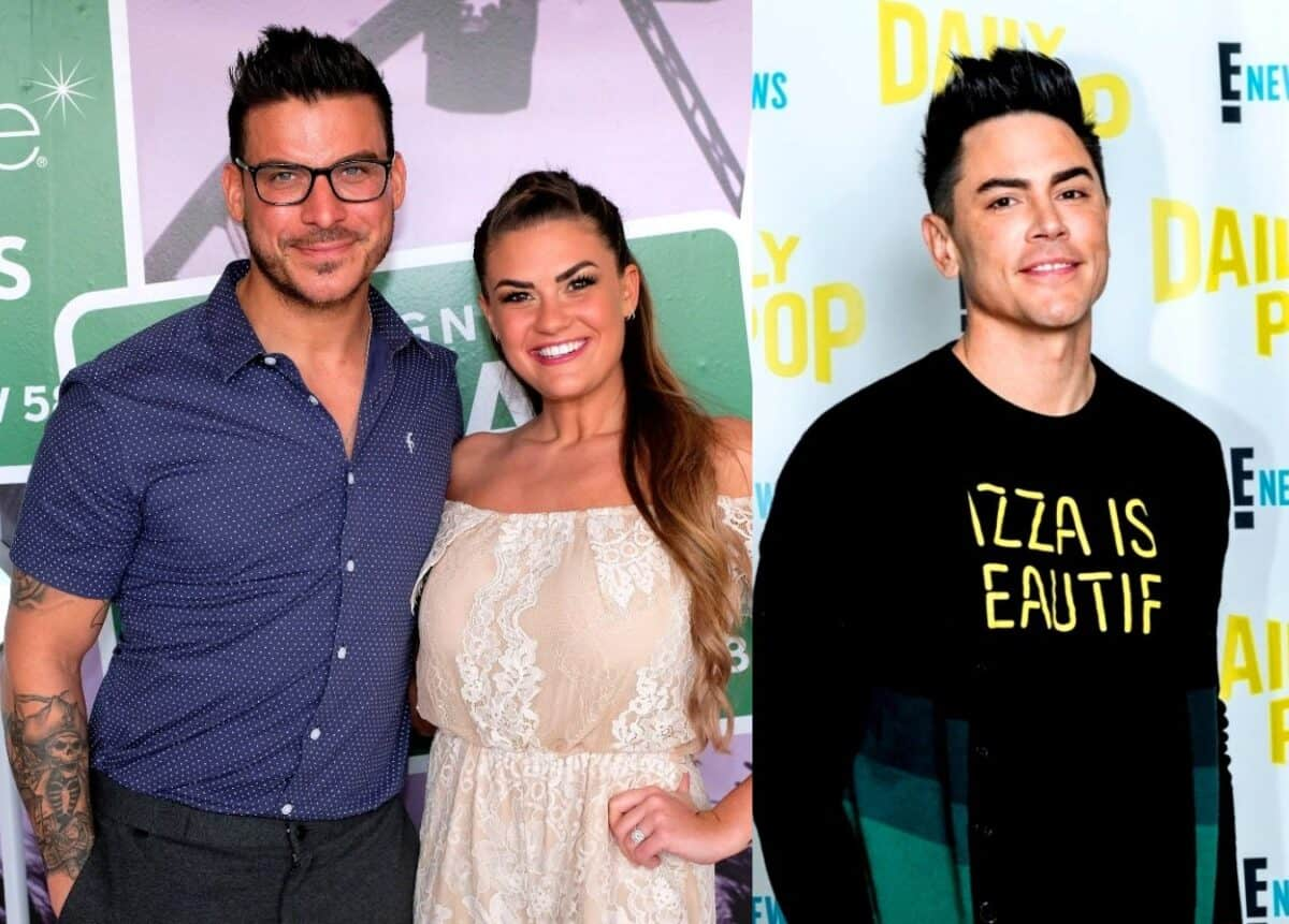 Vanderpump Rules Star Brittany Cartwright Addresses Telling Jax Taylor to Hit Tom Sandoval as Jax Says He Hasn't Spoken to 'Toxic' Tom Since His Wedding