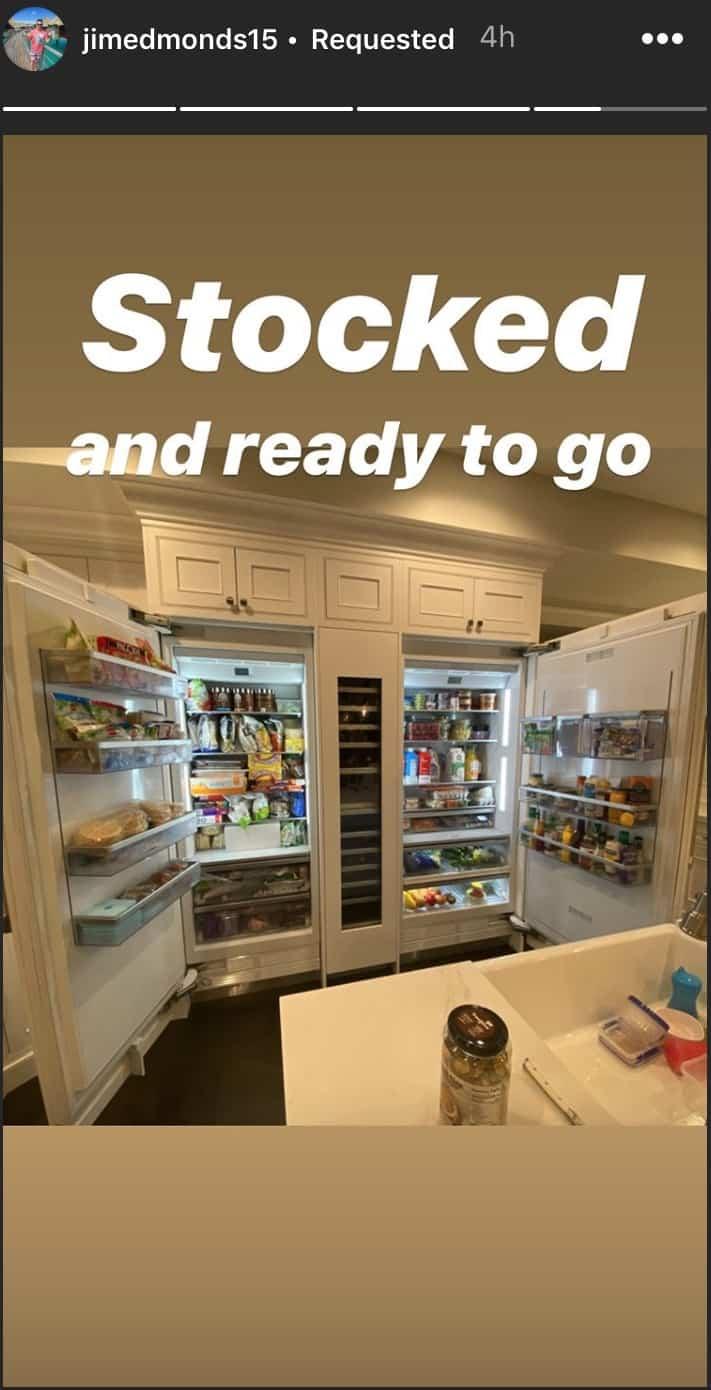 RHOC Jim Edmonds Shares Photo of Full Refrigerator