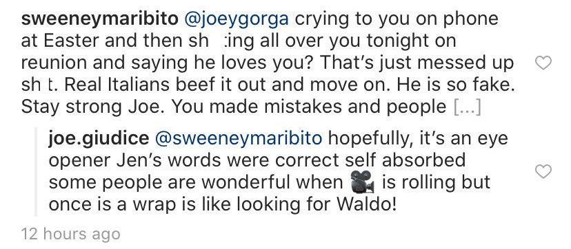 RHONJ Joe Giudice Agrees With Jennifer Aydin That Melissa Gorga is Self Absorbed